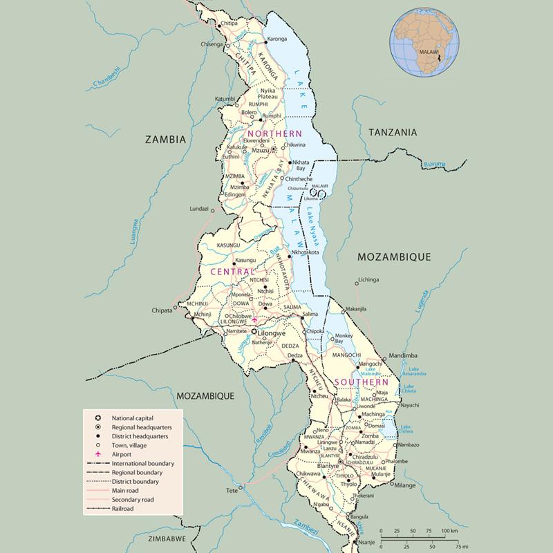 Malawi--map