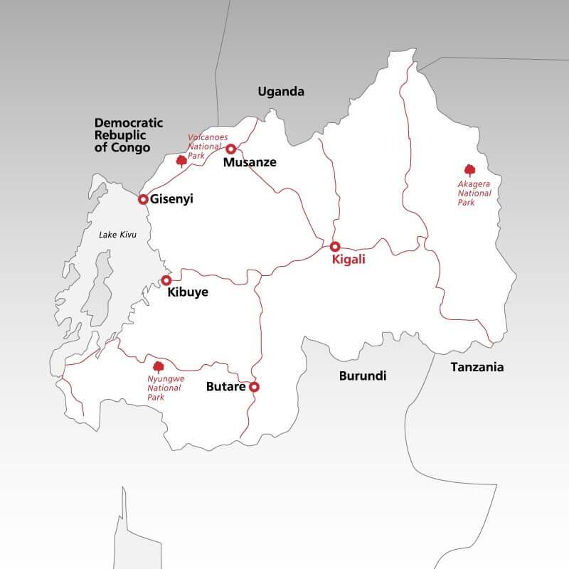 Rwanda--map
