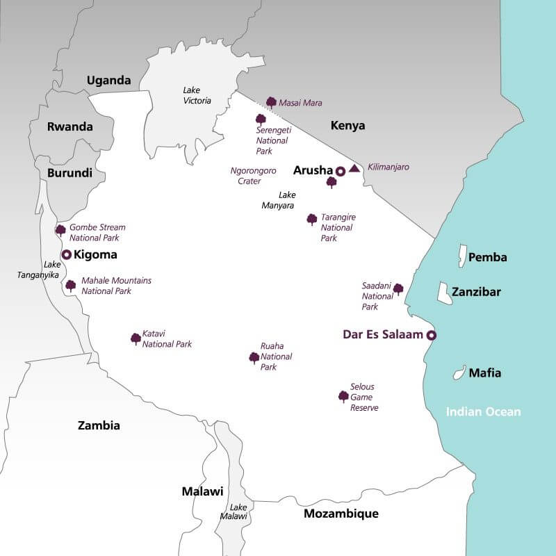 Tanzania--map