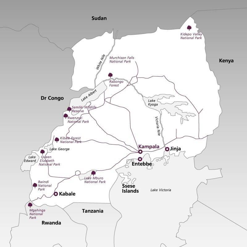 Uganda--map