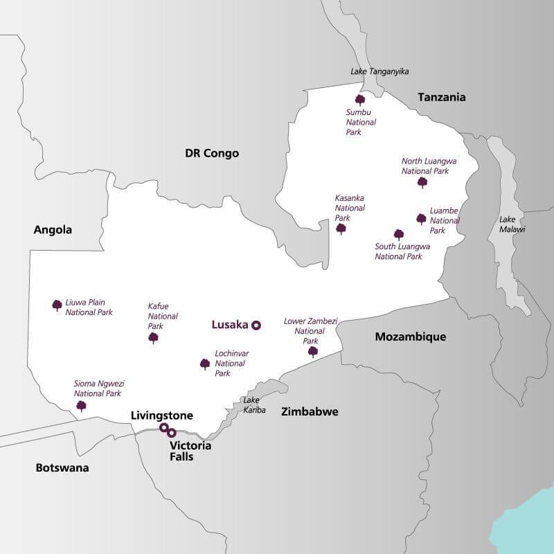 Zambia--map