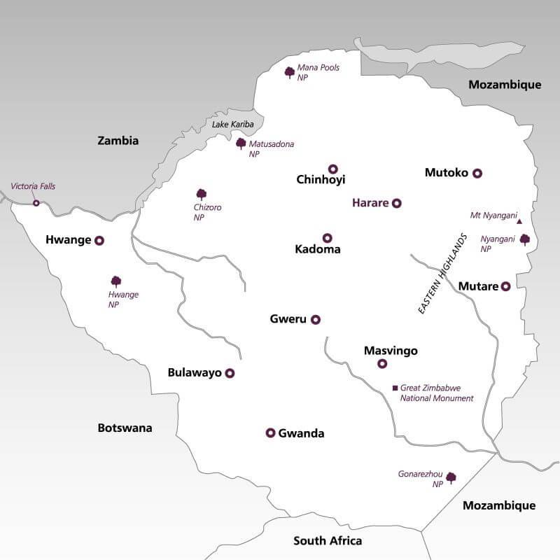 Zimbabwe--map